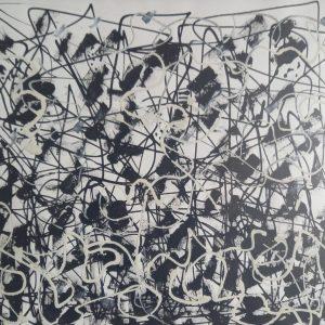 AU-DELÀ DES HÉSITATIONS - papier mixte - 30x40 cm