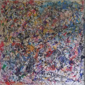 TENUS INDICES CACHES - papier mixte - 65x65 cm